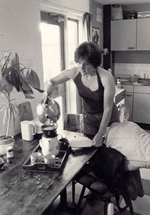 © Eugene Barrington - 1983 - Coffee time wih Trish & Eugene -